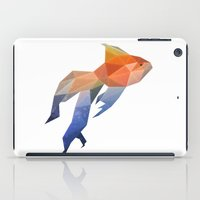 low poly iPad Cases featuring Low Poly Fantail Goldfish  by The animals moved to - society6.com/dian