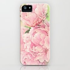 Pink Peonies Slim Case iPhone (5, 5s)
