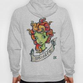 Beware Medusa Girl Hoody