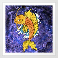 koi fish Art Prints featuring Koi Fish by Spooky Dooky