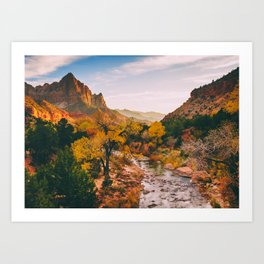Zion Sunset Fine Art Print Art Print