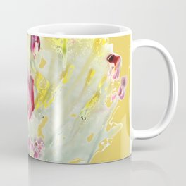 Pink Poppy on Milky Green Coffee Mug