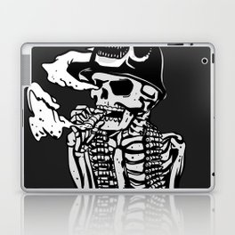Military skeleton illustration - Soldier skull Laptop & iPad Skin