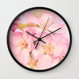 Passionately Pink ~ Spring Blossoms Wall Clock