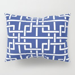 Tangled squares Chinoiserie in blue & white Pillow Sham