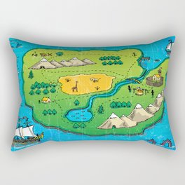 Old pirate's map Rectangular Pillow