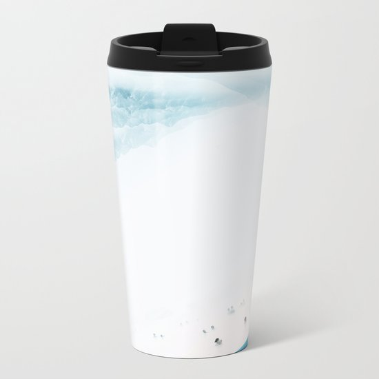 Teal Swim Metal Travel Mug