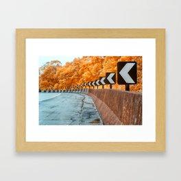 Highway Curve Framed Art Print