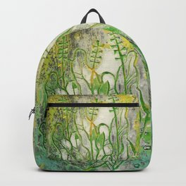 Summer Herbs, Abstract Floral, Stone Texture Backpack