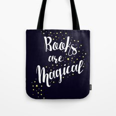 Books Are Magical - Blue Tote Bag