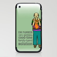 Dr. Funke's 100% natural, good-time family-band solution iPhone & iPod Skin