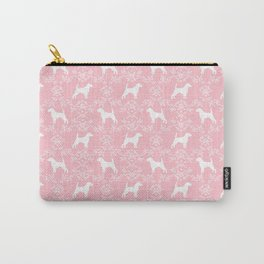 Beagle dog pattern pink and white floral basic dog breeds repeat pattern beagles dog Carry-All Pouch