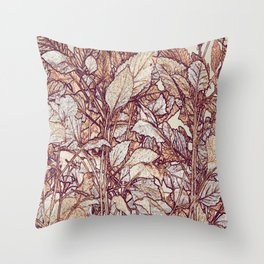 abstract camouflage leaves Throw Pillow