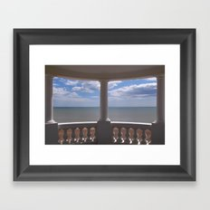 Sea View from a Small Pavilion Framed Art Print