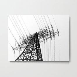 Power Lines Metal Print