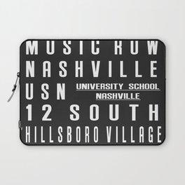 Nashville City Subway Sign Laptop Sleeve