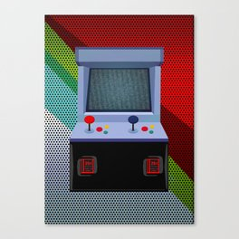 Retro Arcade Joystick Video Game Canvas Print