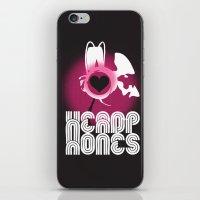headphones iPhone & iPod Skins featuring ♥ HEADPHONES by THE SILENT P // Matthew Pfahlert