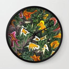 456 - Abstract Flower Garden Wall Clock