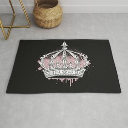 Crown graffiti Rug