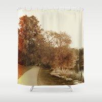 stockholm Shower Curtains featuring Stockholm 03 by Viviana Gonzalez