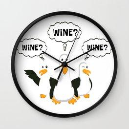 Wine Wine Wine Seagulls Wine Drinker And Gourmet Gift Wall Clock