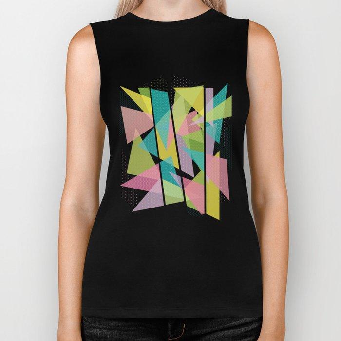 Abstract Geometric Pattern - Sugar Crush Biker Tank
