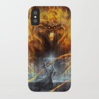 lotr iPhone & iPod Cases featuring 'You shall not pass' by jasric