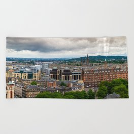 Panoramic of Edinburgh Beach Towel