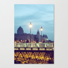 Paris at Night: Pont Neuf Canvas Print