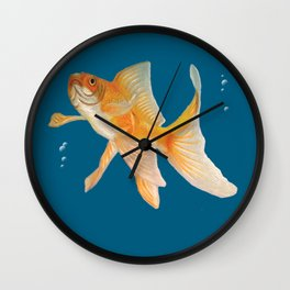 Fish & Bubbles Wall Clock