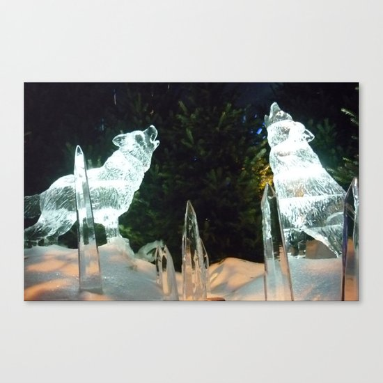 Ice Wolves Canvas Print
