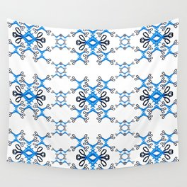 Shears on white Wall Tapestry