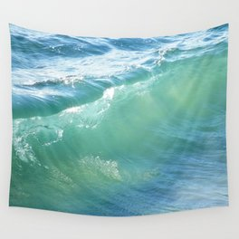 Teal Surf Wall Tapestry
