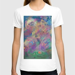 WHEN YOU LOSE THE QUIETGAME, a colorful collidescope art piece about a step off the end of space T-shirt