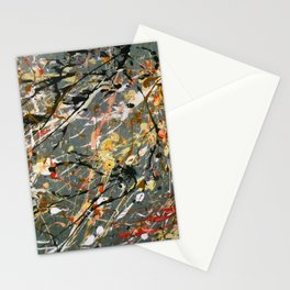 Jackson Pollock Interpretation Acrylics On Canvas Splash Drip Action Painting Stationery Cards