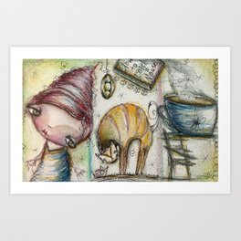 How To Catch a Mouse Art Print