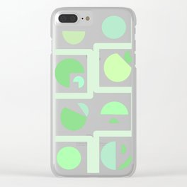 Mid century green Clear iPhone Case