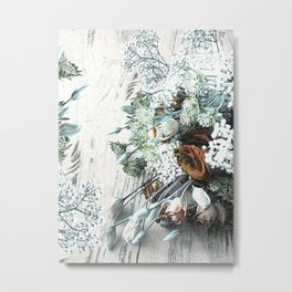 Bouquet Brocante Metal Print