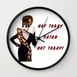Bianca Del Rio - Not Today Satan Wall Clock