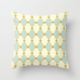 Mardi Gras Pattern | Funny Carnival Graphic Throw Pillow