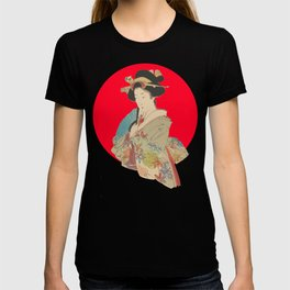 japanese lady japan art T-shirt