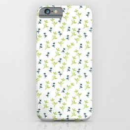 floral green and grey iPhone Case
