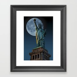 Liberty Moon Framed Art Print