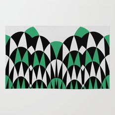 Modern Day Arches Green Rug