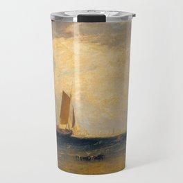 Fishing upon the Blythe-Sand, Tide Setting In Travel Mug