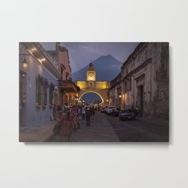 Santa Catalina Arch at Night Metal Print