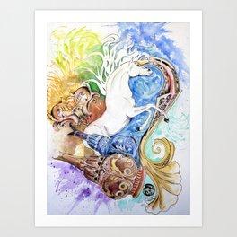 Color Explosion by Felipe Orozco Art Print
