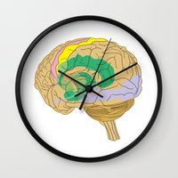 brain Wall Clocks featuring Brain by FACTORIE