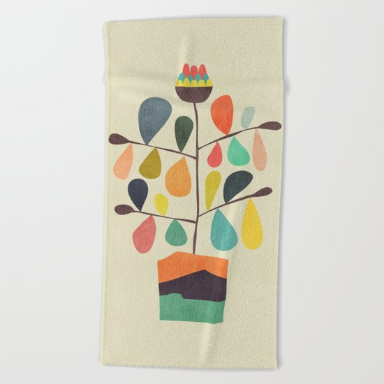 Potted Plant 4 Beach Towel